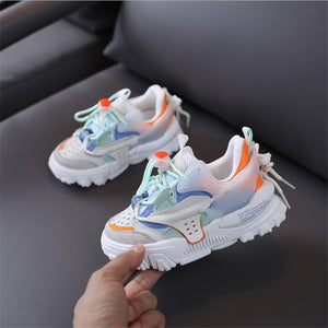 2020 New Autumn Children Shoes Genuine Leather Girls Sneakers Breathable Boy Sport Shoes Fashion Kids Shoe Size 26-37
