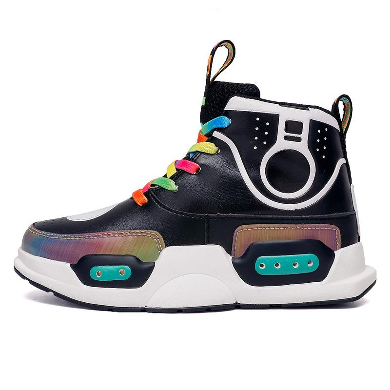 New High top shoes Boys Girls kids LED Light up Shoes Luminous Sneakers Shoes