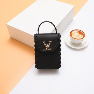 2020 New Fashion PVC Leather Handbag Rivet Jelly Bag Women Small Shoulder Bags Brand Designer Lock Tote Purse Sac A Main Femme - thefashionique