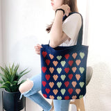 2020 New Fashion Women's Shoulder Bag Casual Large Capacity Wool Woven Bag Korean Knitted Tote Bag Women's Bag