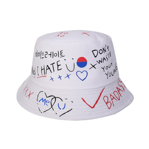 2020 New Harajuku Bucket Hat Women Hip Hop Hat Unisex Outdoor Summer Fisherman Hat Female Sun Hat M33