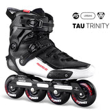 2020 Original Powerslide TAU TRINITY 4*80mm Carbon Fiber Speed Inline Skates Adult Roller Skating Shoes Free Skating Patines