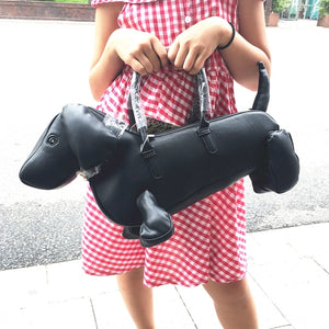 2020 Top New Women Casual Zipper Solid Soft Single Amliya Trendsetter Essential Shoulder Bag Tote Dachshund Cross Simulation