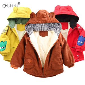 2020 Winter New Baby Boy and Girl Clothes,Children's Warm Jackets,Kids Sports Hooded Outerwear 3 Colors