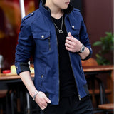 Wool Liner Jackets Men Washed Casual Slim Coat Spring Autumn Winter Thick Thin