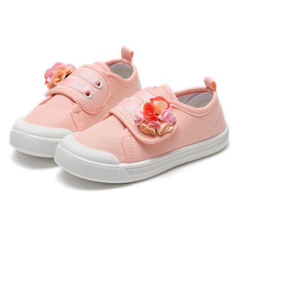 2020 girls shoes Flora kids Casual shoes Breathable soft Comfortable Light Non-slip Lazy shoes Collision Canvas shoes