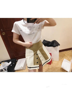 2020 summer high quality women patchwork A-line skirt female causal skirt for ladies ddxgz2