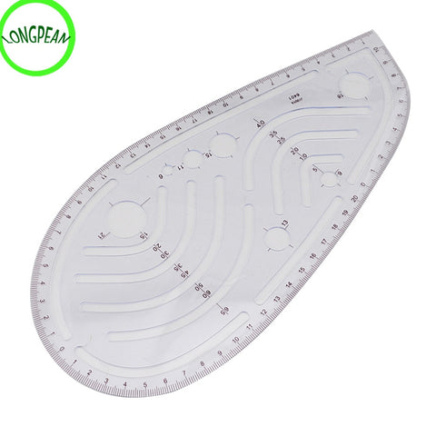 20F# Modern Multi Function Design Clothing Art Straight Ruler French Curve Hip Cut-Out Slot Home DIY Craft Sewing Tools Accessor - thefashionique