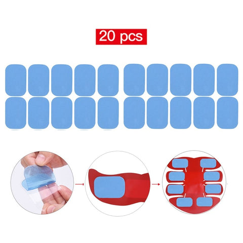 20Pcs Replacement Gel Pads for EMS AB Trainer Butt Toner Muscle Hip Trainer Massage Slimming Waist Loser Belt ABS Stimulator PJ - thefashionique