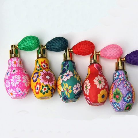 20ml Craft Polymer Clay Perfume Bottles With Air Bag Atomizer Mini Fragrance Contaier Clorfulr Parfum Bottles 250pcs - thefashionique