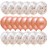 20pcs/set Rose Gold Balloon Confetti Set Birthday Party Balloon Anniversary Wedding Balloon Decoration Gift for Wedding Guests - thefashionique