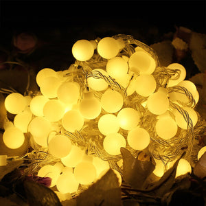 220V New year Christmas Light 10M 100LED Milky Ball LED Fairy String Light Indoor & Outdoor Garden,Party,Wedding Holiday Lights