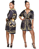 Women 19SS Designer Shirt Dresses Spring Summer Casual Single Breasted Long Sleeved Dress - thefashionique