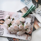 27 Heads Roses Artificial Flowers for Wedding Home Christmas Decoration Fake Flowers Silk Flower for Crafting Fall Decor