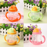 280ml Cute Baby Double Handle Baby Trainer Cup  Newborn Baby  Type Cup Kids Children Baby Feeding Drinking Water Cup-30 - thefashionique