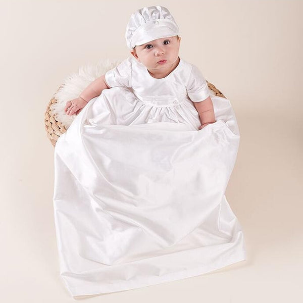 2P Toddlercs boy Baby Girls Christening Gowns Newborn Baptism Long Trailing Dress For Princess Infant 1 Year Birthday Party Wear - thefashionique