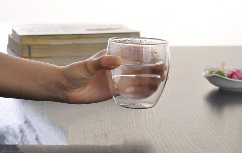 2pcs/lot Creative Double Wall Glass Coffee Mugs Tea Cup Transparent Insulation Glasses Cups Vaso Caneca Beer Wine Cup JN 1014 - thefashionique