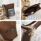 2set Large Cross body Bag For Women Pu Leather Shoulder Messenger Women Bags Multiple Compartment Totes Handbags Clutch Pouch