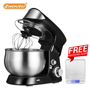 3.5L Stand Mixer, Stainless Steel Kneading Machine, Electric Food Mixer with Blender, Dough Hook And Wire Whip, 600W, 6 Speed