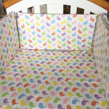 30*60 CM Baby Bed Bumper Soft Breathable Anti Collision Bumpers Cotton Printing Crib Multifunction Baby Bed Bumper Bedding - thefashionique