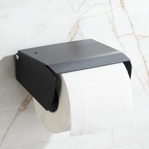 304 Stainless Steel Black European Sanitary Toilet Paper Holder Unique Toilet Roll Holder Bathroom Accessories - thefashionique