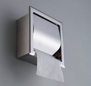 304 Stainless Steel Concealed Bathroom Waterproof Tissue Box Toilet Paper Holders Sanitary Ware Banheiro Hardware Accessories - thefashionique