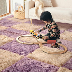 35*35CM Rugs Carpets for Living Room Bedroom Children Kids Soft Patchwork Carpet Magic Jigsaw Splice Puzzle Climbing Baby Mat