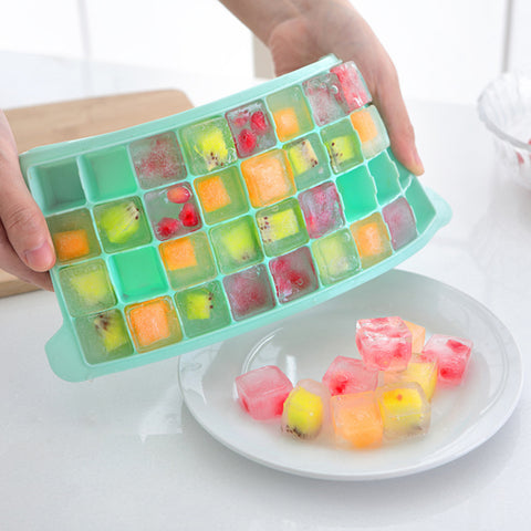 36 Grids Food Grade Silicone Ice Tray Fruit Ice Cube Maker Diy Creative Small Ice Cube Mold Square Shape Kitchen Accessories