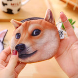 3D Printed Pattern Wicked Akitas Dog Children's Purse Doge Coin Purse Husky Dog Personality Tide Small Purse Women Coin Bag Mini - thefashionique