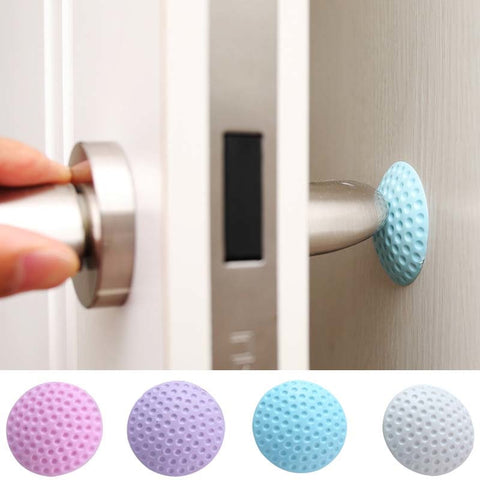 3Pcs Baby Safety Door Care Tool Door Knob Silencer Crash Pad Wall Protector Silicone Door Stopper Anti Collision Stop Products - thefashionique