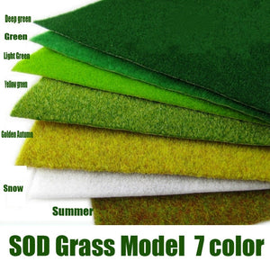 3mm Tomentum DIY Sand Hand Made Model Building Materials Tray Outdoor Landscape Green Grass Lawn Sod Nylon Grass Model - thefashionique