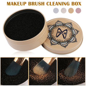 4 Styles Makeup Brush Cleaner Sponge Makeup Brushes Cleaning Mat Box Powder Brush Women Makeup Accessories - thefashionique