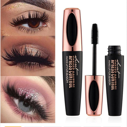 4D Silk Fiber Lash Mascara Waterproof Rimel 3d Mascara For Eyelash Extension Black Thick Lengthening Eye Lashes Korean Cosmetics - thefashionique