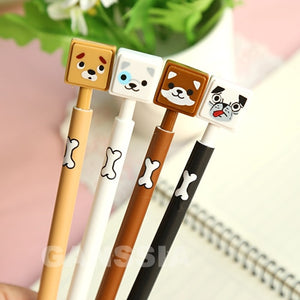 4pcs/lot Mechanical Pencils Kawaii dog Automatic Pen Office zakka School kids stationery writing pencil supplies (ss-1430)