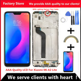 "5.84"" AAA Quality IPS LCD+Frame For Xiaomi Mi A2 Lite LCD Display Screen Replacement For Redmi 6 Pro LCD 2280*1080 Resolution - thefashionique"