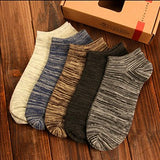 5 Pairs New 2018 Man Short Socks Nation Wind Casual Socks Men Fashion Shallow Mouth Absorb Sweat Male Boat Socks - thefashionique