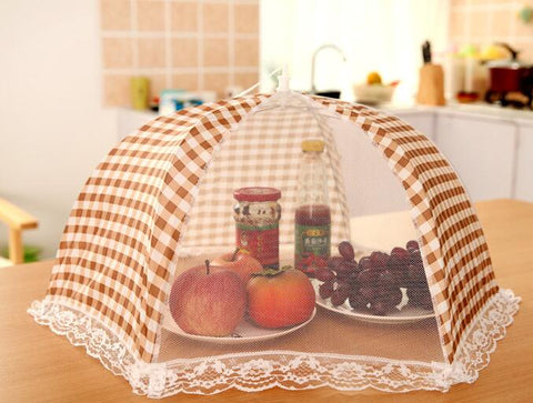 500PCS Foldable Table Food Cover Umbrella Style Anti Fly Mosquito Kitchen Cooking Tools Meal Cover Table Mesh Food Covers - thefashionique
