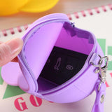 500pcs/lot Cute Cartoon Bag Change Handbag Lady Girl Wallet New Unisex Silicone Hat Portable Coin Case Purse Bag Pouch Keyring - thefashionique