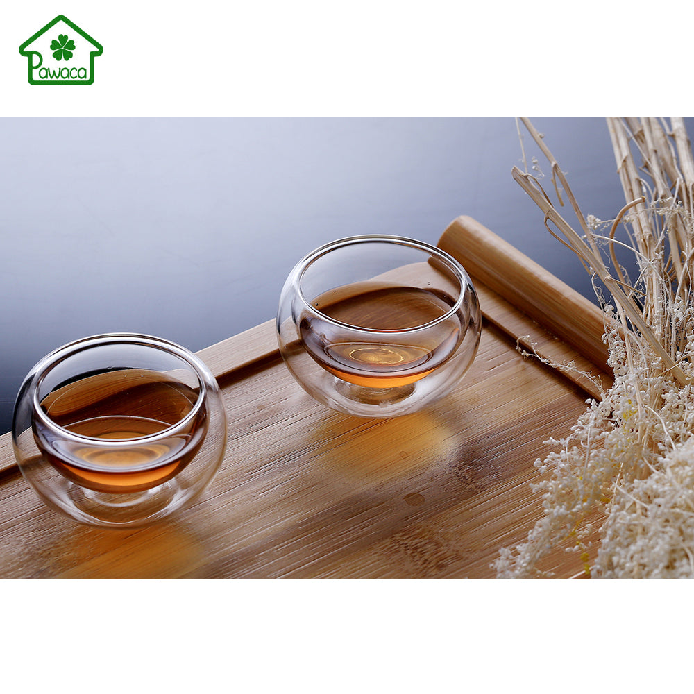 50ml Handmade Double Wall Glass Clear Coffee Mug Tea Cups Heat Resistant Healthy Mini Drink Mug Beer Wine Cups Gifts NEW Arrived - thefashionique