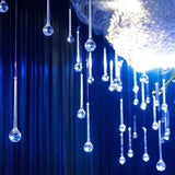 50pcs Acrylic Crystal Large Drop Ornaments Wedding Background Diy Mall Window Beauty Chen Decoration