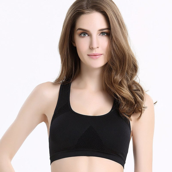 [5Colour/3size] Professional Absorb Sweat Tops Bra , Women Seamless Padded Vest Active bra DropShipping - thefashionique