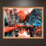 5D Cross Stitch Kits Diamnond Drawing Diamond Painting of The Landscape Handmade Delicate Stitch Crafts Crafts Wall Decoration