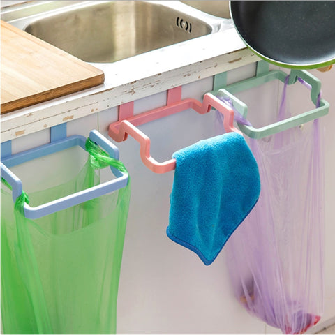 5PCS Cupboard Door Hanging Trash Rubbish Bag Holder Garbage Rack Cabinet Storage Rag Hanger Trash Can Bin Holder Kitchen WY001 - thefashionique
