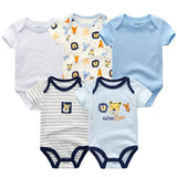 5PCS/LOT Unisex Top Quality Baby Rompers Short Sleeve Cottom O-Neck 0-12M Novel Newborn Boys&Girls Roupas de bebe Baby Clothes - thefashionique