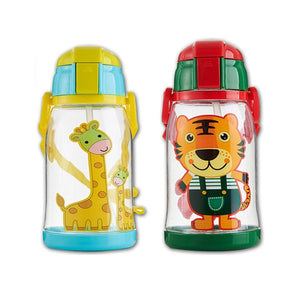 600ML Baby Drinking Cup Feeding Bottle Animal School Drinking Cup Water Bottle Sippy Cup