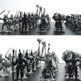 60pcs/set Medieval Military War Simulation Warriors Ancient Soldier static Military figures Model for Children Gifts - thefashionique