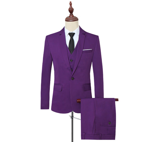 6XL Terno Masculino Slim Fit Purple Wedding Suits For Mens Blue Costume Mariage Homme Black Business Mens Suits Formal Slim Fit