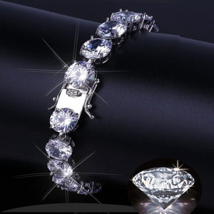 6mm Bridal Crystal Rhinestone Bracelet Women Wedding Accessories Silver Chain Chokers Jewelry Collier Femme Hip Hop Jewelry