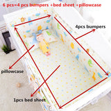 6pcs/set Blue Universe Design Crib Bedding Set Cotton Toddler Baby Bed Linens Include Baby Cot Bumpers Bed Sheet Pillowcase - thefashionique