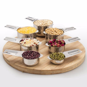 7 PCS Stainless Steel Measuring Cups For Baking Coffee Tea Kitchen Measuring Spoon Scales Scoop Set Measuring Tools Easy To Grip - thefashionique